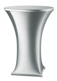 Stehtischhusse Samba Silber Modell A