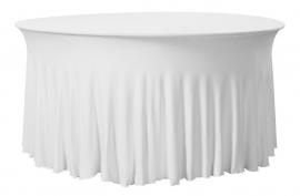 Tischhusse Grandeur Rund Weiß