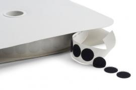 Klettband (Rund) selbstklebend Weiß