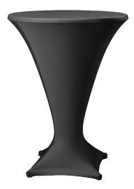 Stehtischhusse Cocktail Schwarz