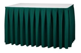 Tischskirting Boxpleat Grün