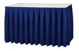 Tischskirting Boxpleat Marineblau