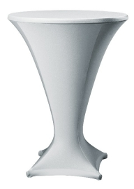 Stehtischhusse Cocktail Silber