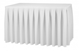 Tischskirting Boxpleat Weiß