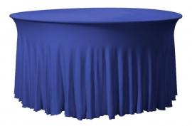 Tischhusse Grandeur Rund Blau