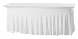 Tischhusse Grandeur 183 x 76 cm Weiß