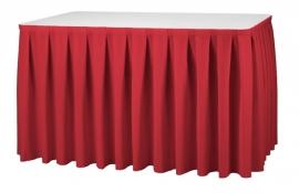 Tischskirting Boxpleat Rot