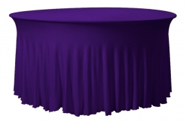 Tischhusse Grandeur Rund Violett