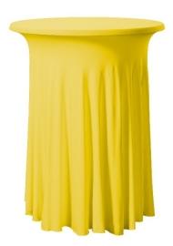 Stehtischhusse Wave Gelb