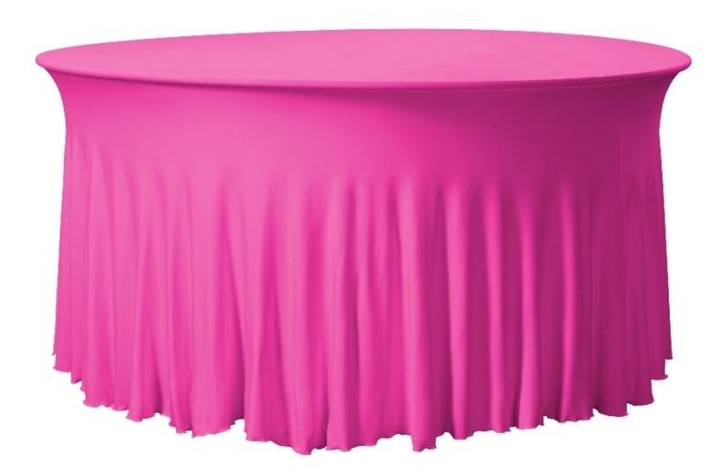 Tischhusse Grandeur Rund Rosa