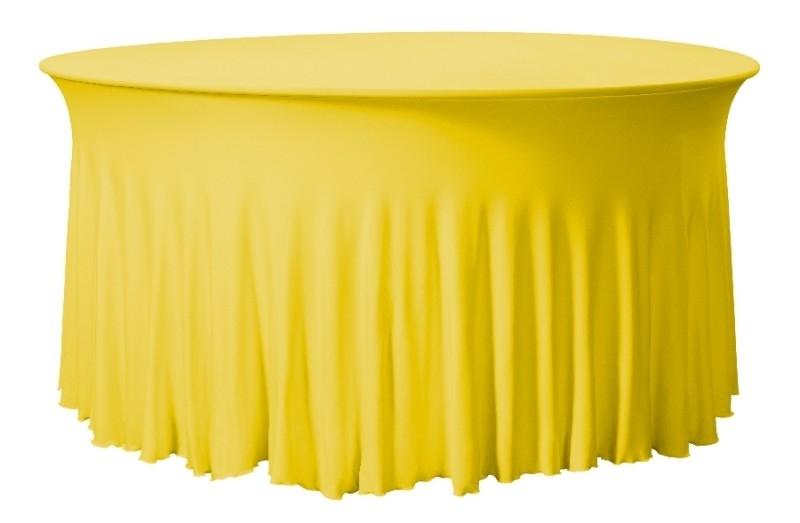 Tischhusse Grandeur Rund Gelb