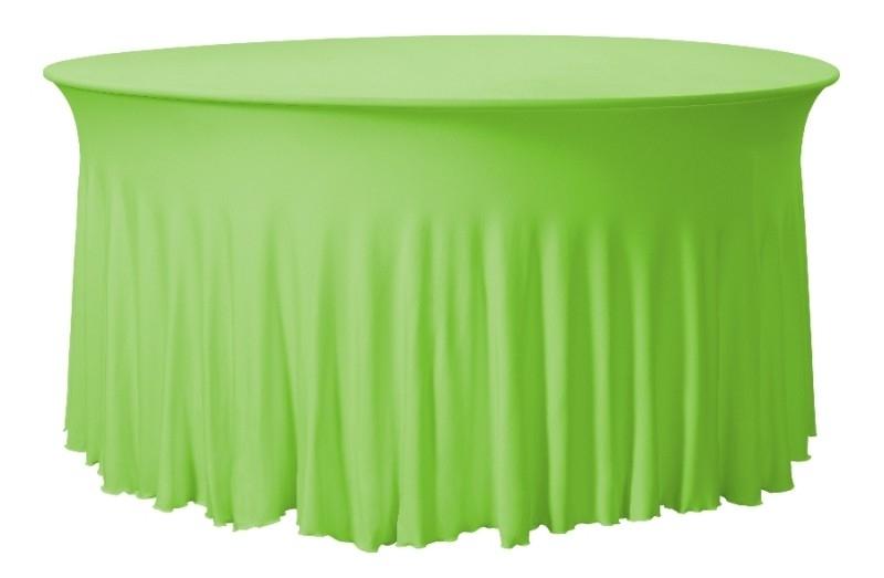 Tischhusse Grandeur Rund Apfelgrün
