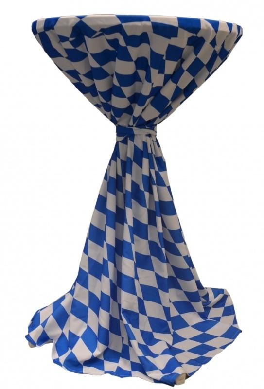 Stehtischhusse Party Blau / Weiß Oktoberfest München