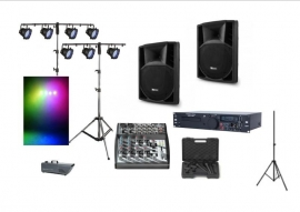 Combinatie audio en licht set tot 150 personen