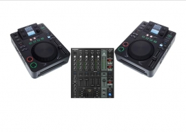 DJ set  2x CD player met 5 kanaals mixer