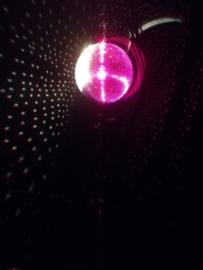 Spiegelbol op statief met 2 pinspots
