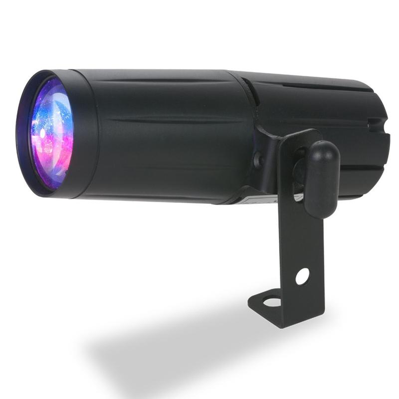 ADJ quad pinspot DMX RGBW