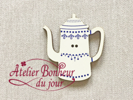 Atelier Bonheur du Jour - Cafetière frise bleu (Koffiekan blauw)