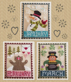 Waxing Moon Designs - Monthly Trios : January, February, March