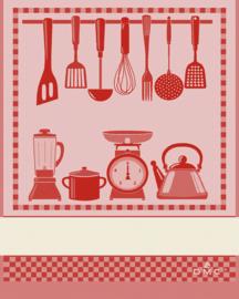 DMC - Torchon - Cuisine (rouge)