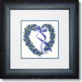 Liebevolle Kreuzstichentwürfe - Lavendelherz (MX-33-05)