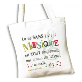 Lili Points - SAC11 - Sac à Musique (Tote Bag)