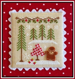 Country Cottage Needlework - Nr. 2 Gingerbread Girl & Peppermint Tree (Gingerbread Village)