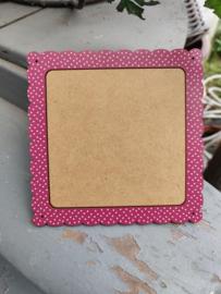 Atelier Bonheur du Jour - Houten kader (vierkant donker roze - klein model)