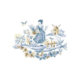 """Les Brodeuses Parisiennes - """"La meunière"""" (bleu)"""