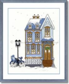 Liebevolle Kreuzstichentwürfe - W-91-15 Winterhaus 1