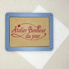 Atelier Bonheur du Jour - Houten kader (rechthoekig lichtblauw)