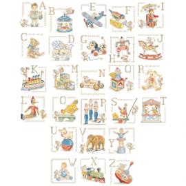 """Les Brodeuses Parisiennes - Le grand ABC des """"Jouets anciens"""" (oud speelgoed)"""