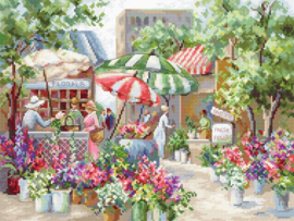 Letistitch - Luca-S - Flower Market (Leti-0978)