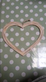 Cadre coeur en bois