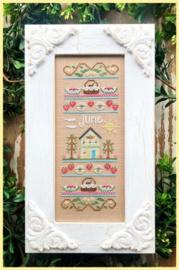"""Country Cottage Needleworks - """"June Sampler"""" (Sampler of the Month)"""