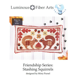 Luminous Fiber Arts - Friendship Series - Stashing Squirrels
