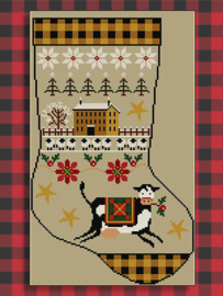"Twinpeak Primitives - Rustic Christmas Series ""Stocking I"""