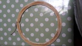 Cadre rond en bois (diam. 24 cm)