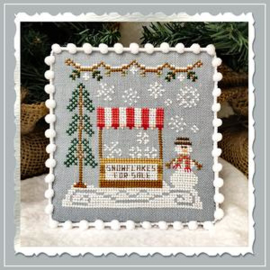 "Country Cottage Needleworks - Snow Village ""Snowflake Stand"" nr. 3"