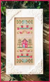 """Country Cottage Needleworks - """"September Sampler"""" (Sampler of the Month)"""