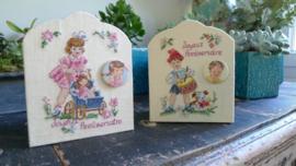 Des Histoires à broder -  Joyeux Anniversaire Fille - Garçon  (pakket)