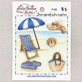 """Atelier Bonheur du Jour -  """"Bain de soleil bleu"""" (P-50)"""