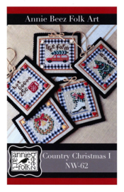 Annie Beez Folk Art - Country Christmas I