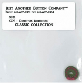 Just another button - Classic Collection - Christmas Birdhouse