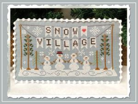 "Country Cottage Needleworks - Snow Village ""Snow Village Banner"""