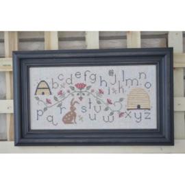 Annie Beez Folk Art - Bunny and Bee