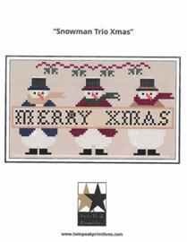 "Twinpeak Primitives - Snowman Trio X-mas"""