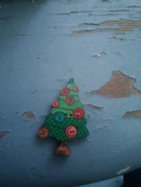 """Atelier Bonheur du Jour -  """"Kerstboom met knopjes"""""""