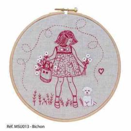 Marie Suarez - Bichon (borduren/stitchery)