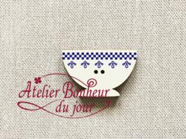 Atelier Bonheur du Jour - Bol frise bleu (Kom blauw)